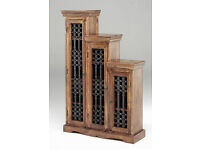 Solid Wood Indian Jali Sheesham CD Unit Storage Cabinet Cupboard