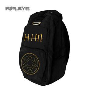 Official-Back-Pack-Rucksack-Bag-HIM-Heartagram-GOLD-Ville-Valo-SCHOOL-Goth