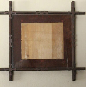 ANTIQUE Folk Art ADIRONDACK SHADOW BOX Picture Frame
