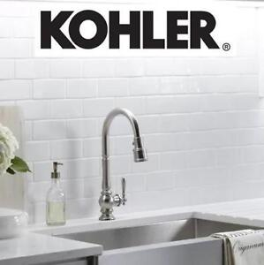NEW* KOHLER PULLDOWN KITCHEN FAUCET K-99259-CP 138365012 SPRAYER ARTIFACTS SINGLE HANDLE PULL DOWN