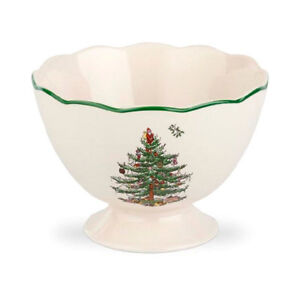 Spode Christmas Tree Sculpted Footed Bowl