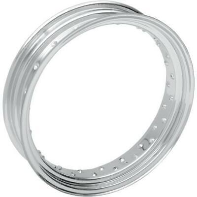 Drag Specialties 0210-0021 Chrome 40 Spoke Custom Spun Steel Rim