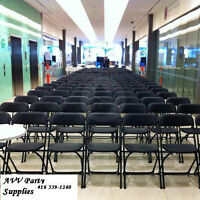 All in One Place party Rental(folding chairs,table..much more)