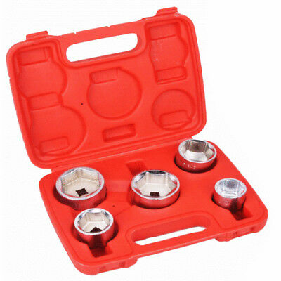 "Oil Filter Socket Set Removal Tool 3/8"" Drive 24, 27, 32, 36, 38MM 5pc Set"