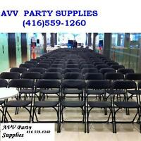 AVV Party Supplies(Folding Chairs/tables/BBQ Rental 416 559 1260