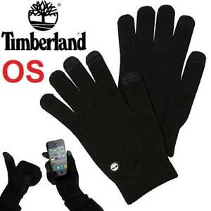 NEW TIMBERLAND COMMUTER GLOVES OS GL360039 231600092 KNIT MAGIC STRETCH GLOVES WITH TOUCHSCREEN TECHNOLOGY BLACK
