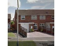 3 Bedroom semi detached house with private garden, garage & off street parking for 2/3 cars