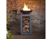FIREFLY SQUARE FIREPIT FIRE FIREBOWL CONTEMPORARY RRP £170 105CM