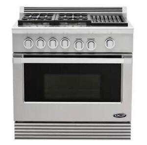 """FLOOR MODEL - 36"""" DCS Gas Range Professional with Grill - NO TAX"""