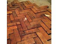 Reclaimed parquet flooring 33m2 good condition