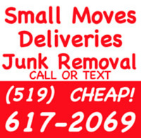 Deliveries / Small Moves / Junk Removal - 519-617-2069 - David