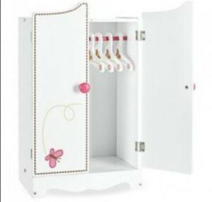 """NEWBERRY WOODEN WARDROBE FOR 18"""" DOLLS BRAND NEW IN BOXES"""