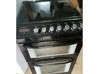 zanussi 55 cm electric black cooker can deliver