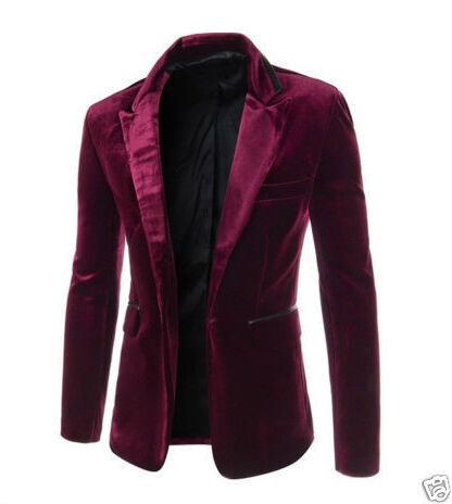 One Button Velvet Jacket
