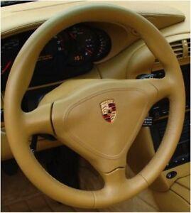 Kit-Rigenera-Volante-Pelle-Porsche-Savanna-Beige-911-Cayenne-Cabrio-986