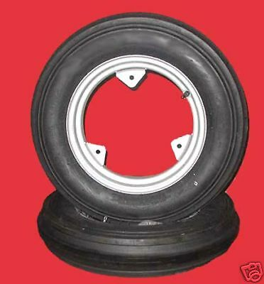 Two New Carlisle 5.00-15 Farmall Front Tractor Tires Wheels Rims Kit-q
