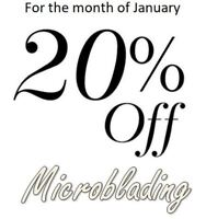 20% Off Microblading for the month of January