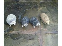 Garden ornaments hedgehogs