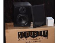 ACOUSTIC SOLUTIONS - INSTATE 70 SPEAKERS -£25 - NEW LIKE CONDITION