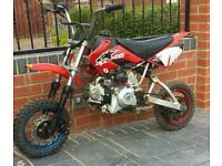 120cc pit bike crosser 110 125 140 foeld bike moped ped quad