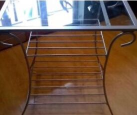 Next Glass & Silver Console Table