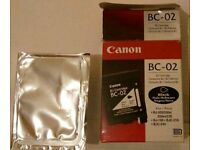 Black Canon BC-02 New (old stock) Sealed Bubblejet Ink Cartridge