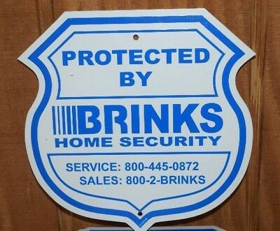 BRINKS HOME SECURITY HOME ALARM SIGN NO POST - 1 SIGN