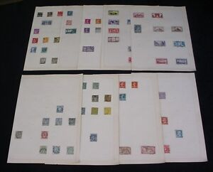 FRANCE Europe FRENCH Francaise POSTAGE STAMPS 9 Pages Old Collection LOT 3030L