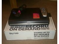 SKY+ HD Box,With Working Remote Control for sale. £25