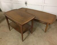Set of Solid Wood Retro Mid Century Surfboard Style Tables ~L@@K