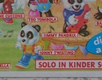 """BPZ  """"Panda Party"""" 1994 Italien, Variante IIMMY statt JIMMY"""