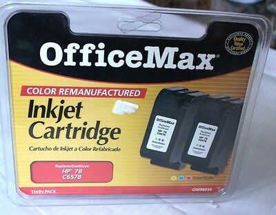 HP-78 Tri-Color Twin Ink Pack (C6578/OM98934) Remanuf - exp unk
