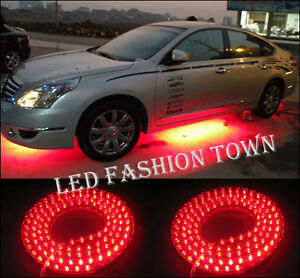 Set-of-4-Undercar-Underbody-Car-Kit-LED-Neon-Lights-RED