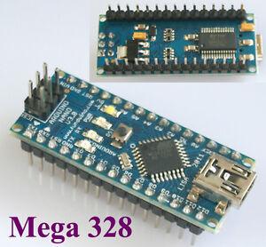 Nano V3.0 AVR ATmega328 P-20AU board+USB cable for arduino prototyping platform