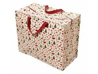 Twin Pack - Christmas Design Jumbo Storage Bags ideal for Decorations, Xmas Wrap, Presents, Clothes