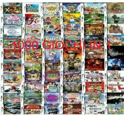 1000 GIOCHI X NINTENDO DS,2DS,3DS,NEW 3DS,XL 2019