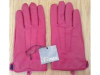 Women's Red Leather Gloves Size Large BNWT