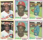 1978 Topps Baseball Card Lot