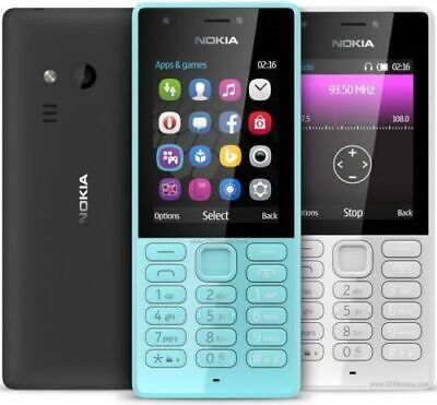 New Condition SIM Free Nokia 216 2.4 Inch Camera,MobilePhone Black,Blue UK Stock