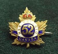 WANTED: WW1 52ND CEF NEW ONTARIO BATTALION SWEETHEART BROOCH