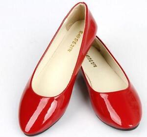 6b36688a9ad Red Patent Flats