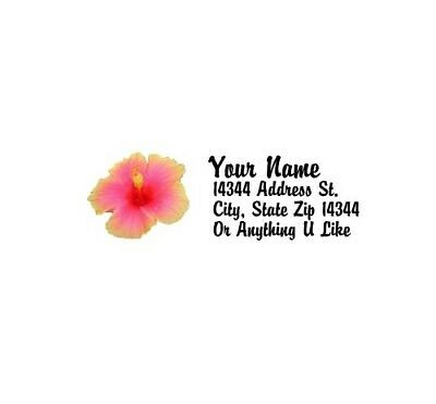 - Hibiscus Design Personalized Address Labels 80PCS-FREE US Shipping