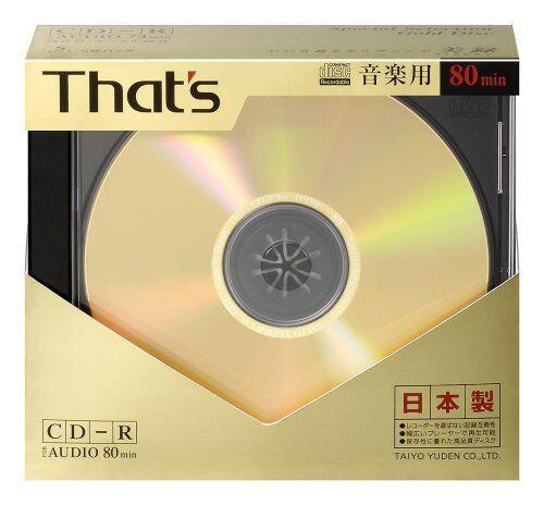 ya08239 F/S 5 TAIYO YUDEN Blank CDR for Audio Music 80min Gold Label