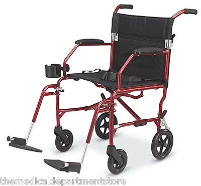 Medline Ultralight Lightweight Transport Chair Wheelchair