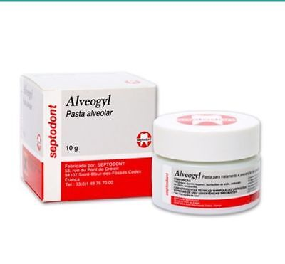 Septodont Alveogyl Paste 10gm Dry Socket Treatment Dental Material.. Dz