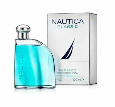 NAUTICA Classic 3.4 oz EDT eau de toillete Men's Spray Cologne 3.3 NIB 100 ml