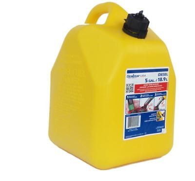 5-gallon Plastic Diesel Can Fuel Cans Tank Yellow Oil Gas Spout Child-resistant