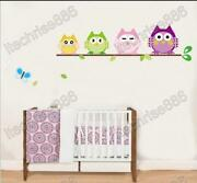 Removable Wall Stickers Owl
