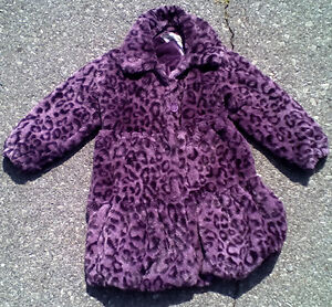 Girls Faux Fur Coat - 5T
