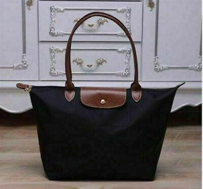 Women's New Longchamp Le Pliage Tote Bag Nylon Black Handbags size Large